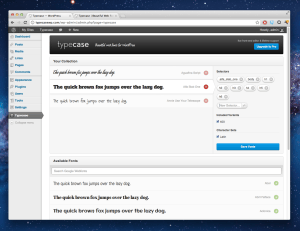 Screenshot of Typecase plugin, Credits: UpThemes